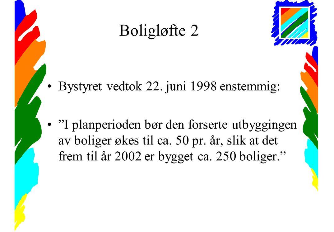 Boligløfte 2 •Bystyret vedtok 22.