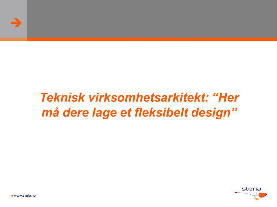 """  www.steria.no Teknisk virksomhetsarkitekt: """"Her må dere lage et fleksibelt design"""""""