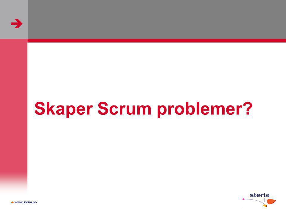   www.steria.no Skaper Scrum problemer?