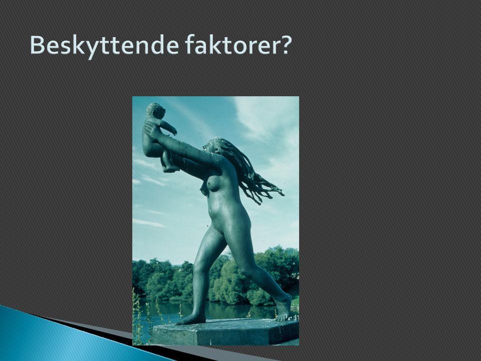 Lundby-studien i Sverige (Cederblad, 1994; Cederblad & Hansson, 1996) ◦ En stor langtidsundersøkelse startet i 1947  Inkluderte alle født mellom 1932