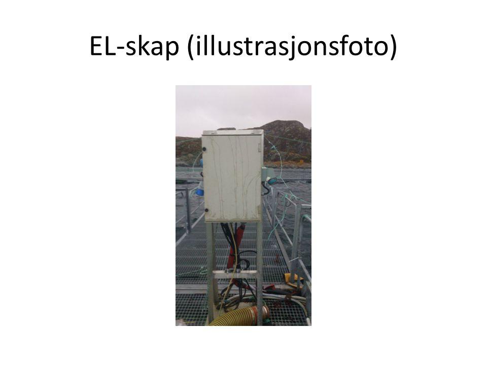 Skapets egenskaper/montering.• Skapet er klassifisert som og IP44.