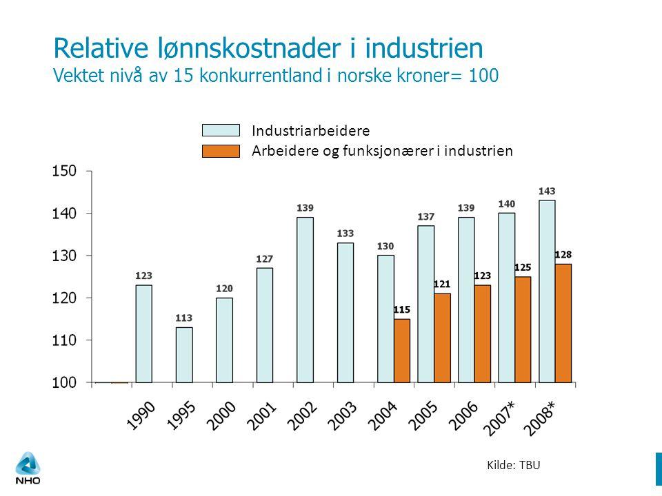 Lønnsvekst i en del sektorer 2007 og 2008