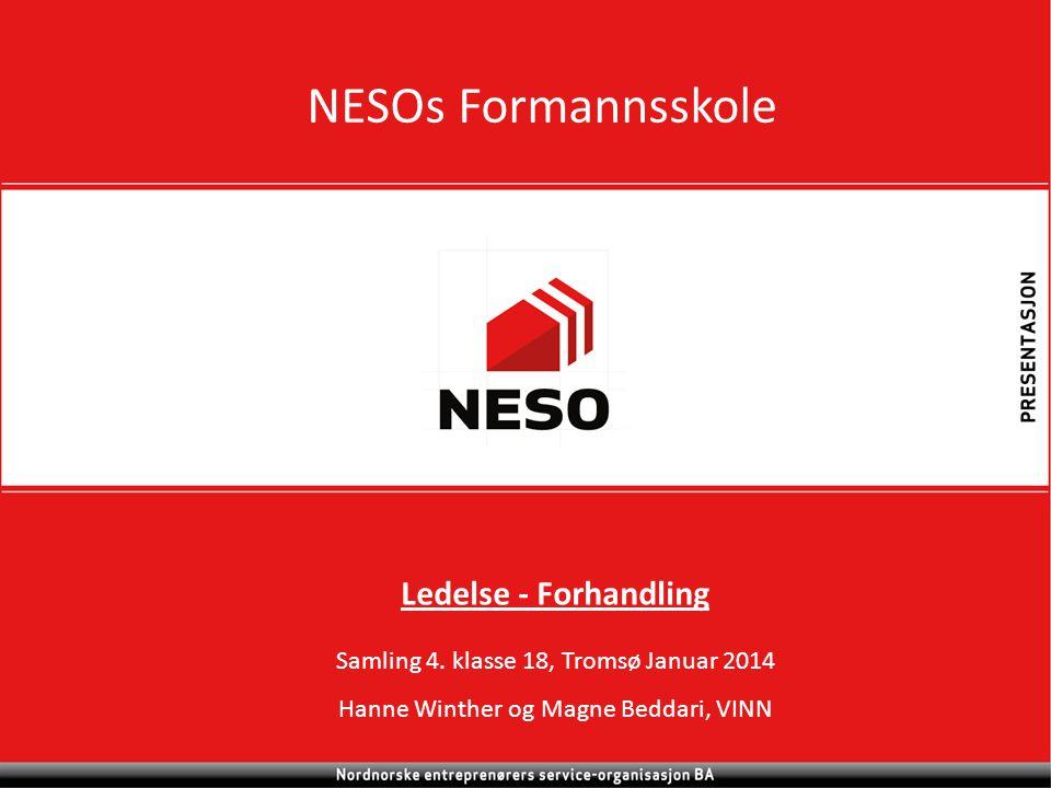 NESOs Formannsskole Ledelse - Forhandling Samling 4.