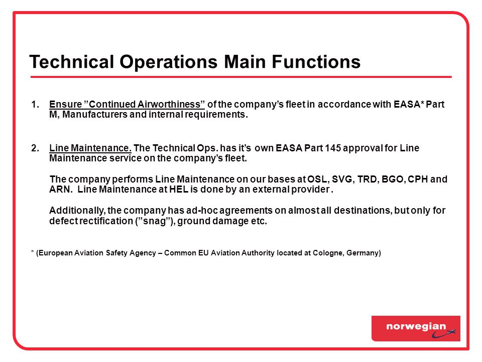 TECHNICAL OPERATIONS 6