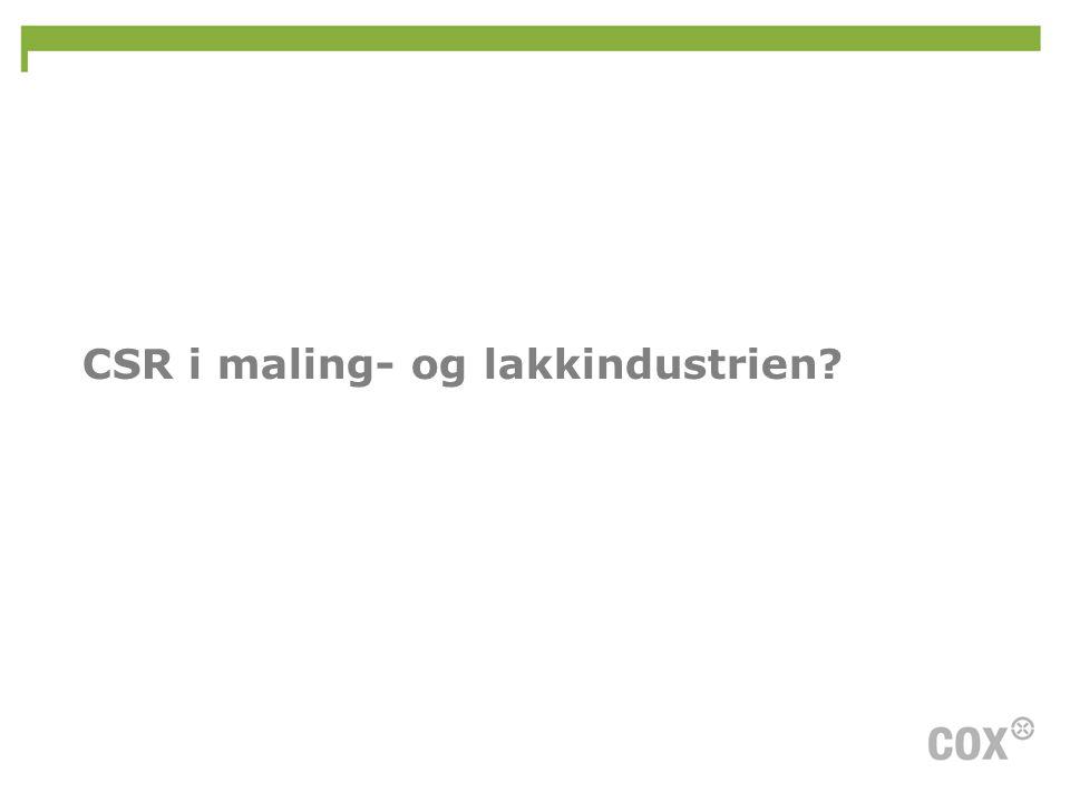 CSR i maling- og lakkindustrien?