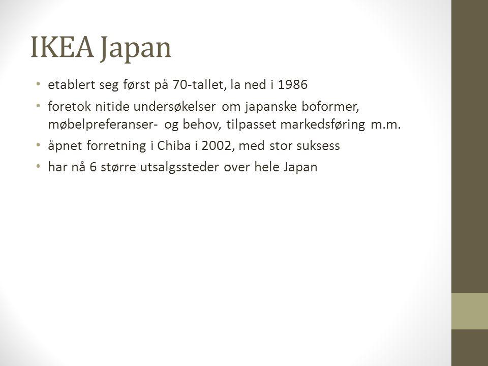 Rakuten, Uniqlo • netthandel, klesprodusent • implementere engelsk som arbeidsspråk innen 2012 • ønsker å bli ledende globale selskaper • alle ansatte oppfordres til å gå på engelskkurs • svært kontroversielt og oppsiktsvekkende • Direktøren for Honda, Takanobu Ito: Idiotisk å kreve bruk av engelsk inni Japan