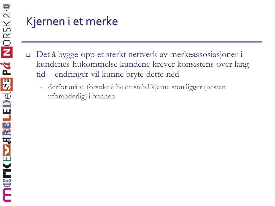 Posisjoneringsstrategier  Kulturelle symboler o Hvilken sjokolade er et lite stykke Norge.