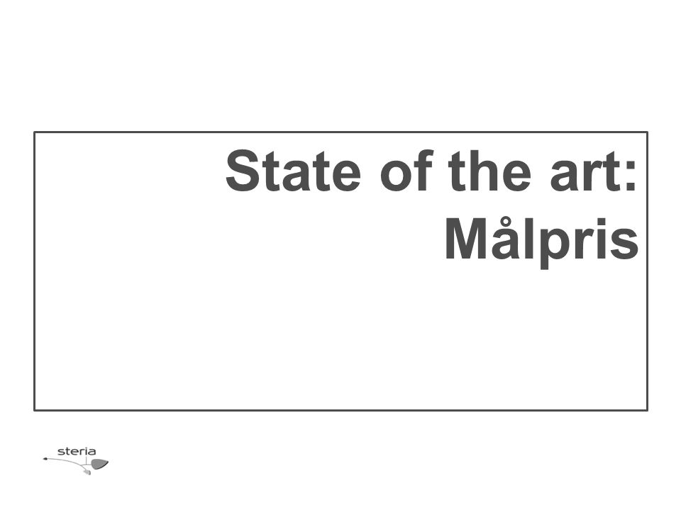 State of the art: Målpris