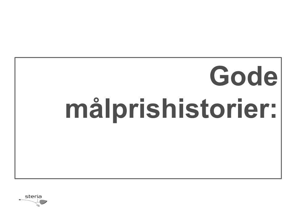 Gode målprishistorier: