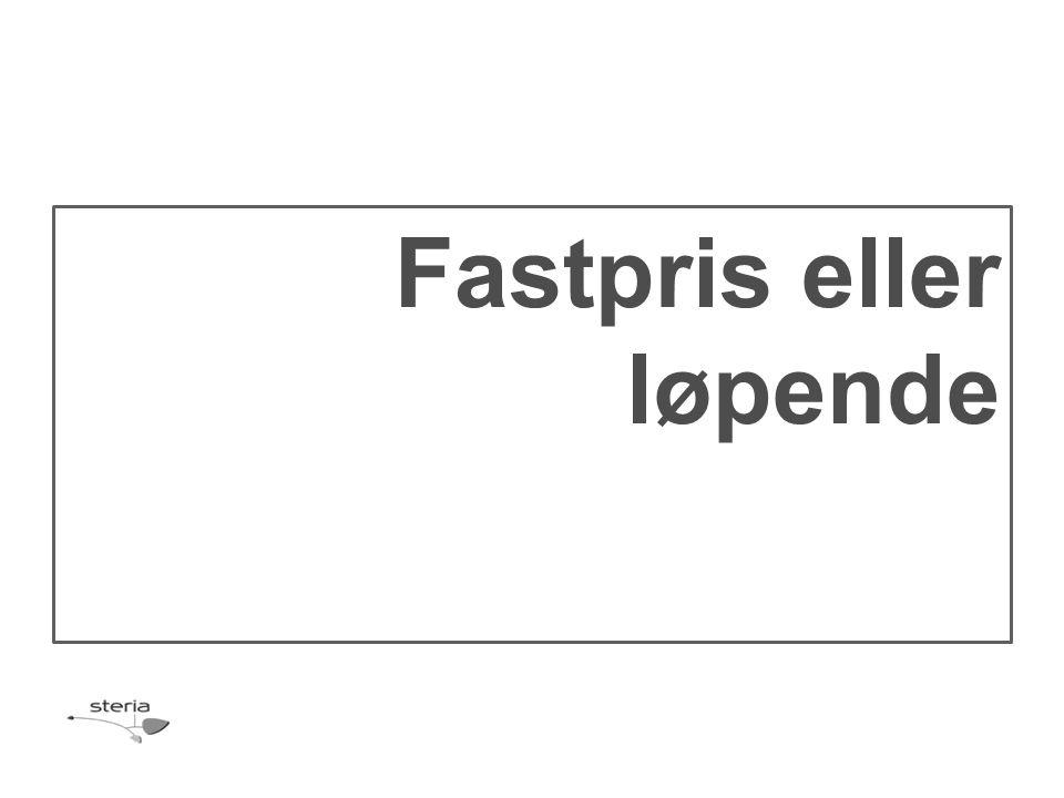 Fastpris eller løpende