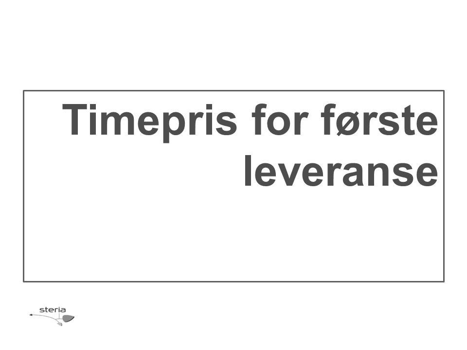Timepris for første leveranse