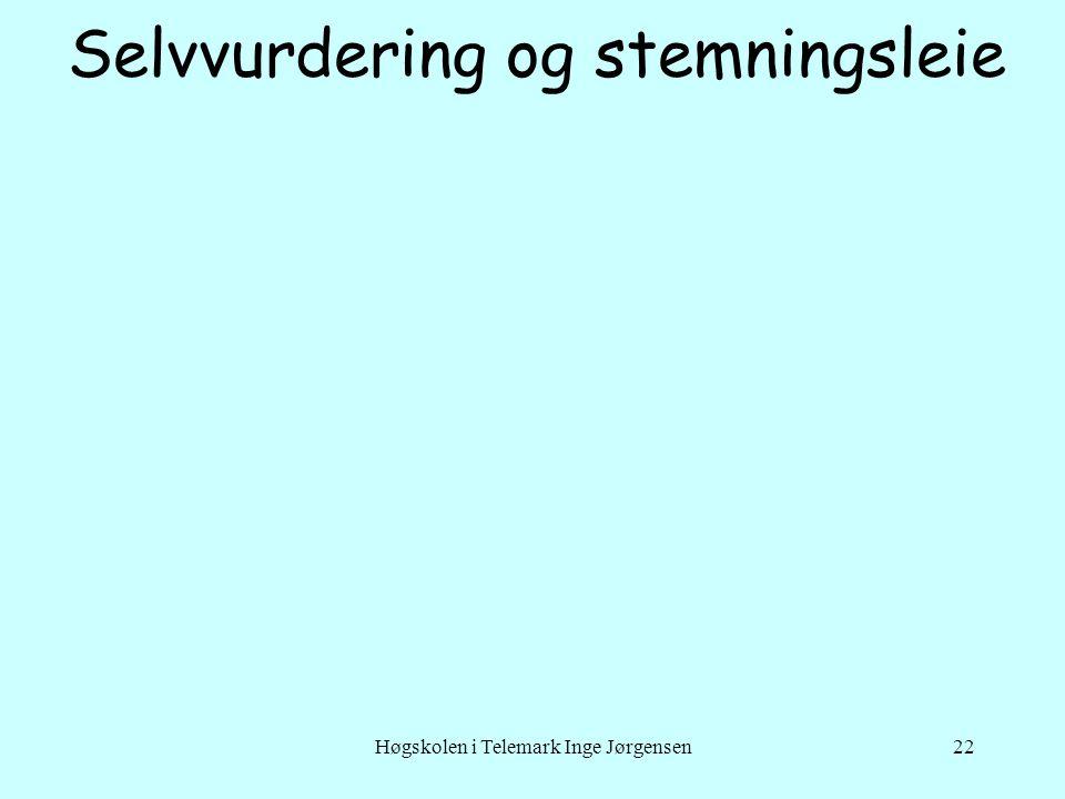Høgskolen i Telemark Inge Jørgensen22 Selvvurdering og stemningsleie