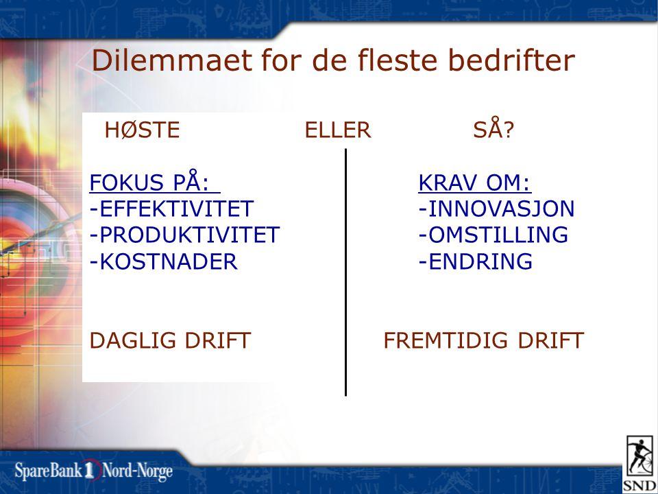 Dilemmaet for de fleste bedrifter HØSTE ELLER SÅ.