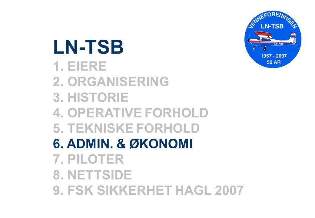 LN-TSB 1. EIERE 2. ORGANISERING 3. HISTORIE 4. OPERATIVE FORHOLD 5.