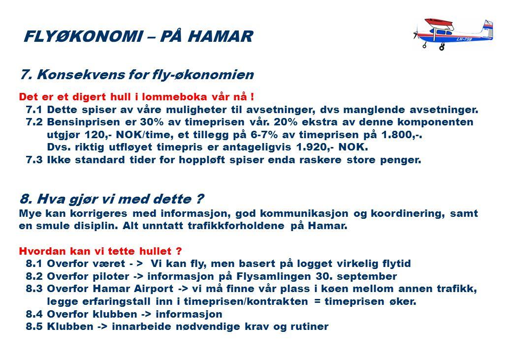 7. Konsekvens for fly-økonomien Det er et digert hull i lommeboka vår nå .