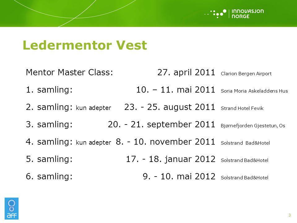 Ledermentor Vest 3 Mentor Master Class:27. april2011 Clarion Bergen Airport 1.