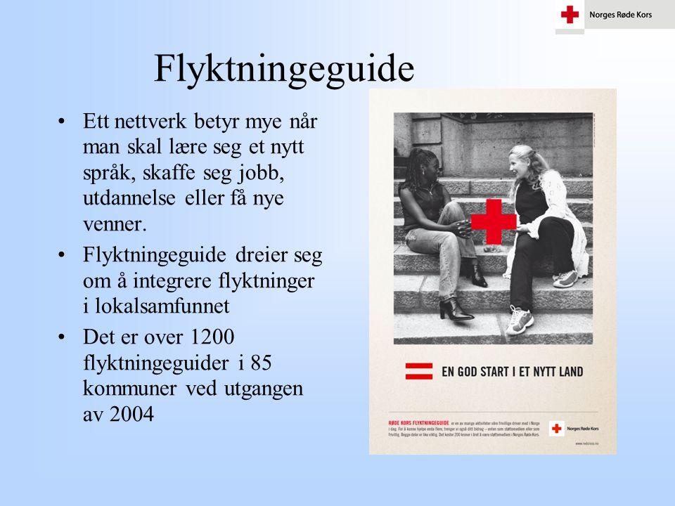 Flyktningeguide •Ett nettverk betyr mye når man skal lære seg et nytt språk, skaffe seg jobb, utdannelse eller få nye venner. •Flyktningeguide dreier