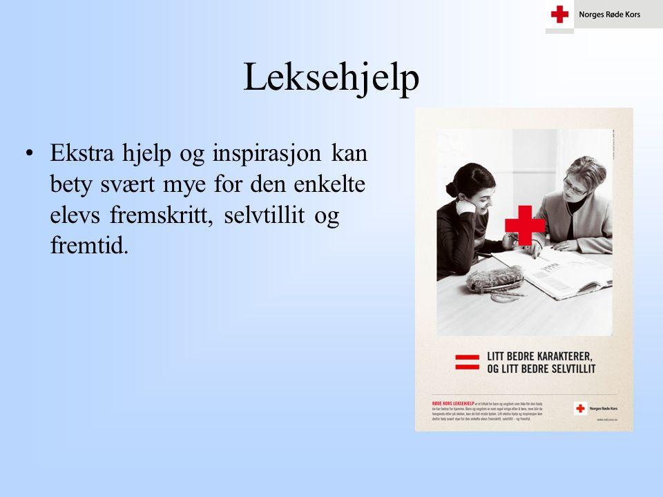 Leksehjelp •Ekstra hjelp og inspirasjon kan bety svært mye for den enkelte elevs fremskritt, selvtillit og fremtid.