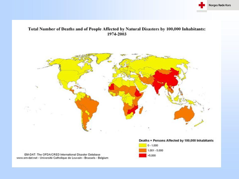 Norges Røde Kors rolle •Bidrar med å kartlegge behov hvis vi blir kalt inn, analyse av situasjonen •Tilbyr våre tjenester der har kompetanse og kapasitet •Søker å skaffe finansiering •Responstid er avgjørende