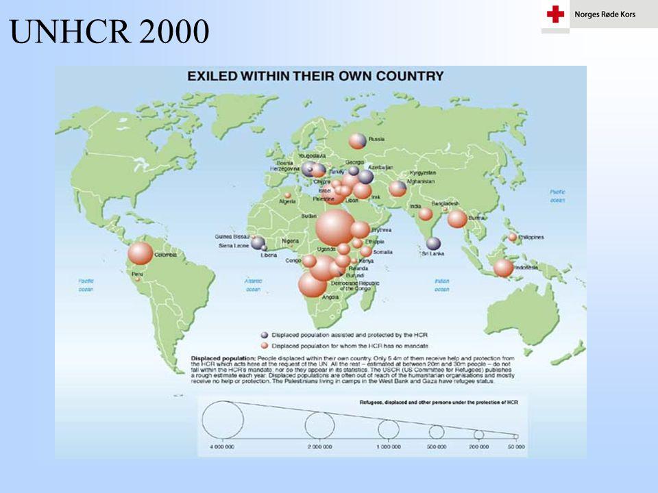 Nødhjelp •Norges Røde Kors støtter ca.100 hjelpeoperasjoner i mer enn 32 land.