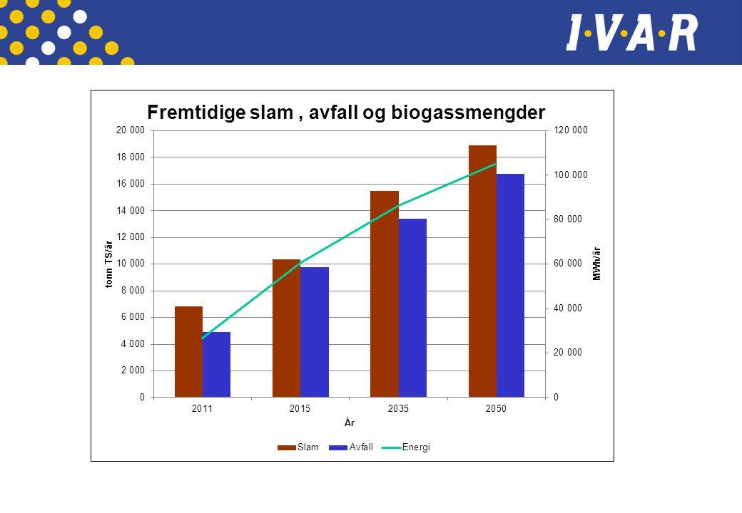 Nøkkeltall  Design kapasitet 22 000 tonnTS/år ( 2035)  Biogassproduksjon – ca 65 GWh/år ( 2035)  Mottaksanlegg, THP anlegg, biogassreaktorer ( 2 x 3500m3), avvanning og oppgraderingsanlegg for biogass  Energibehov dekkes av fornybar energi ( treflis) og overskuddsvarme distribueres i lokalt fjernvarmenett.