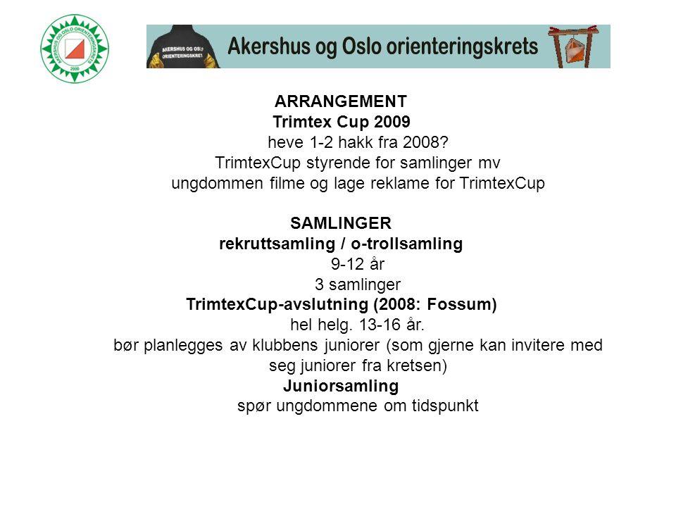ARRANGEMENT Trimtex Cup 2009 heve 1-2 hakk fra 2008.