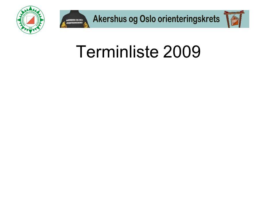 Terminliste 2009