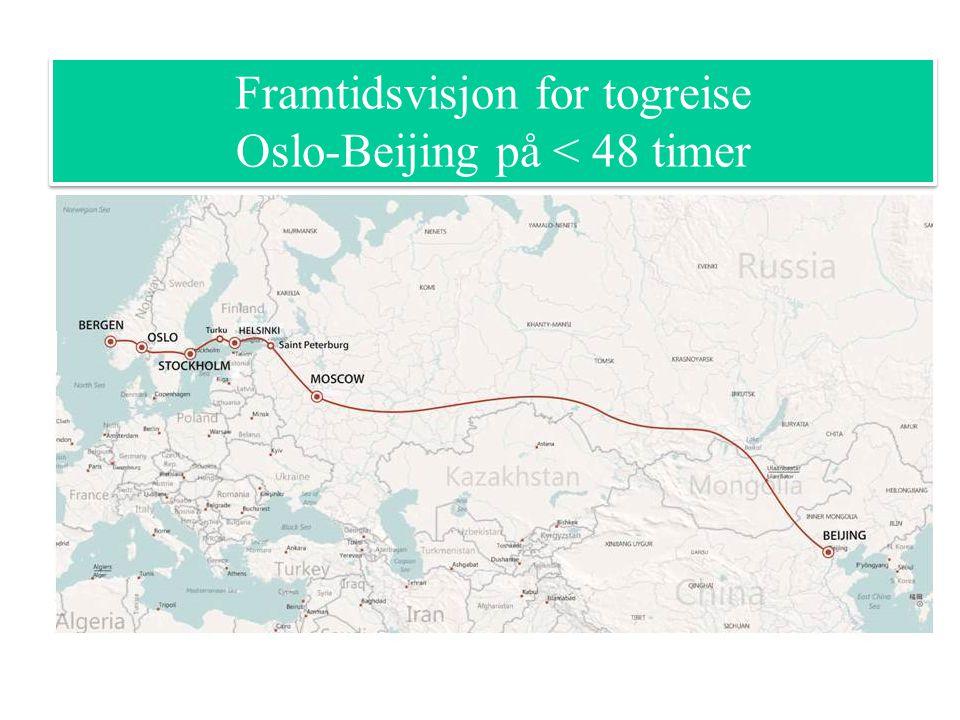 Framtidsvisjon for togreise Oslo-Beijing på < 48 timer Framtidsvisjon for togreise Oslo-Beijing på < 48 timer