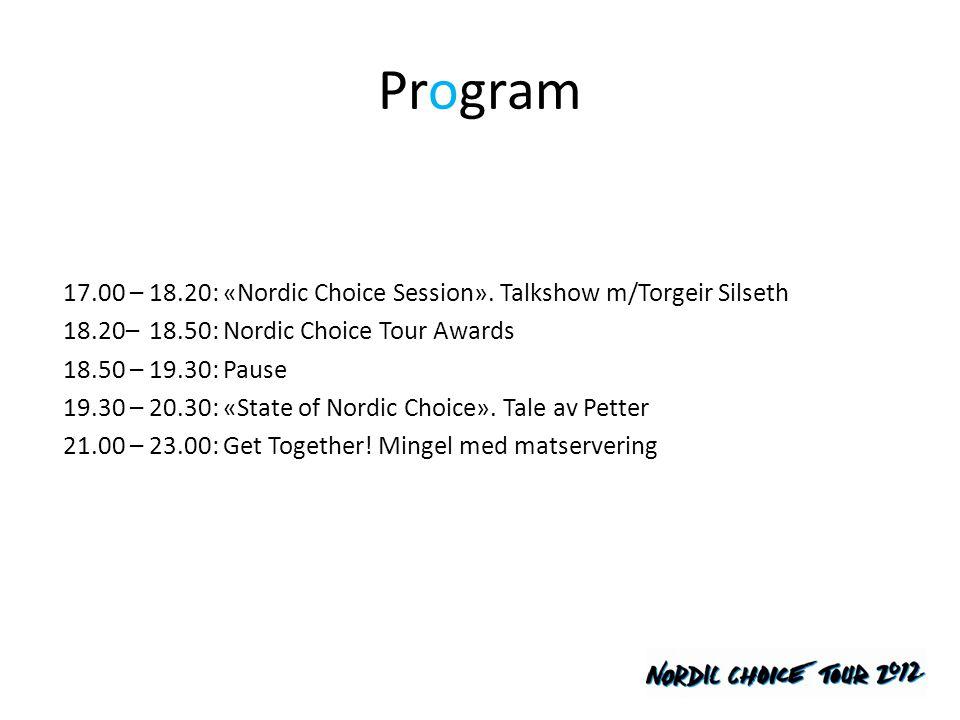 Nordic Choice Tour Awards Ildsjelen • Prisen løfter frem WeCare initiativ, og går til medarbeidere som har vist ekstra omtanke for mennesker eller miljø i sitt lokalmiljø Stjerneskuddet • Prisen løfter frem unge, nyansatte hotelltalenter med engasjement, teft, læringsglede og arbeidslyst.