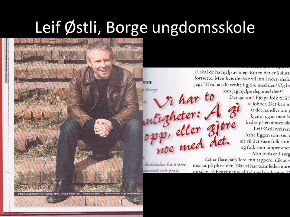 Leif Østli, Borge ungdomsskole
