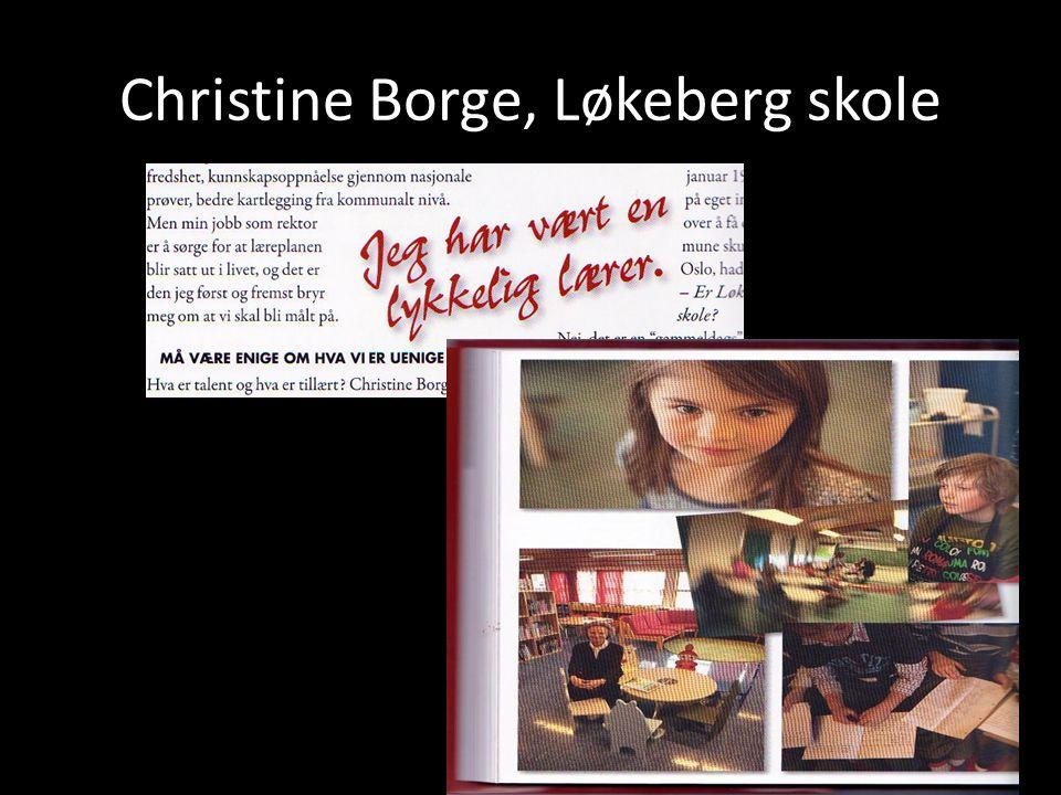 Christine Borge, Løkeberg skole