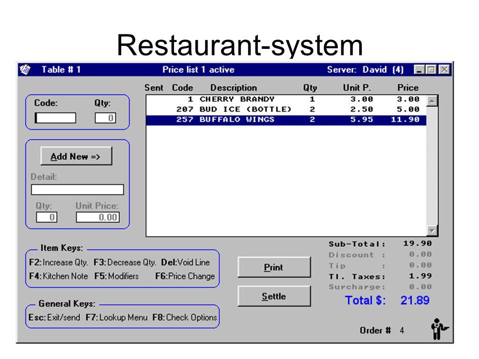 Kirsten Ribu HiO 200815 Restaurant-system