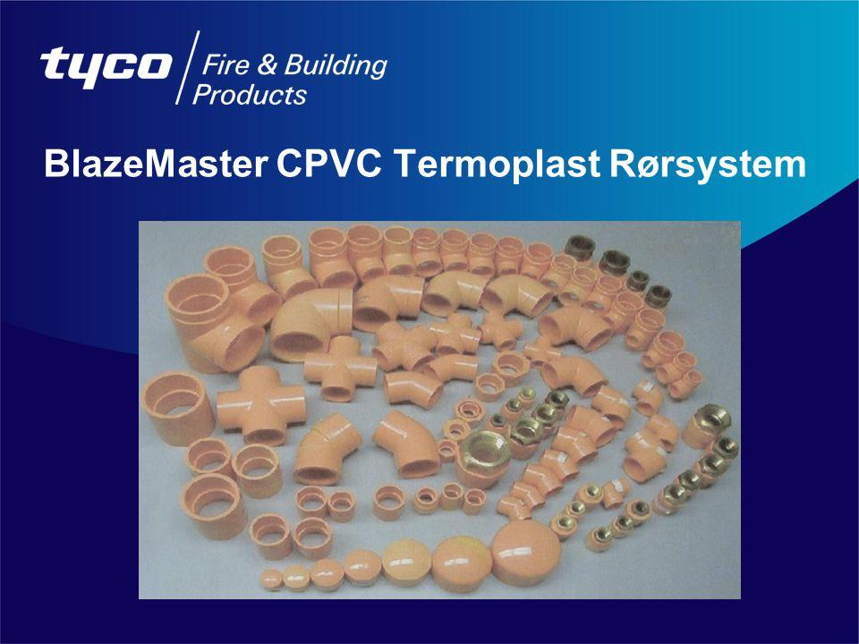 BlazeMaster CPVC Termoplast Rørsystem