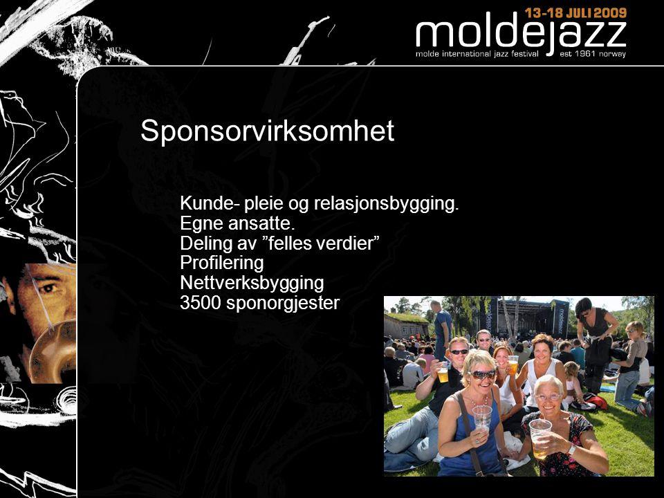 Sponsorvirksomhet Kunde- pleie og relasjonsbygging.