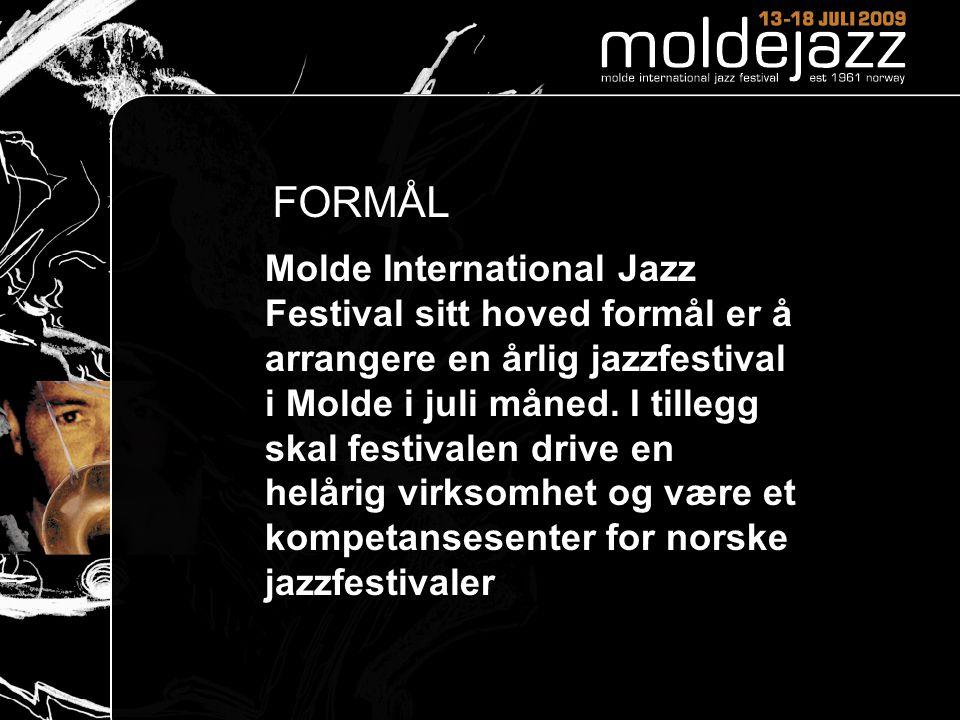 FORMÅL Molde International Jazz Festival sitt hoved formål er å arrangere en årlig jazzfestival i Molde i juli måned.