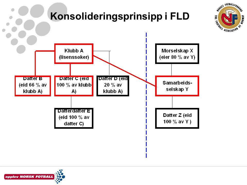 Konsolideringsprinsipp i FLD
