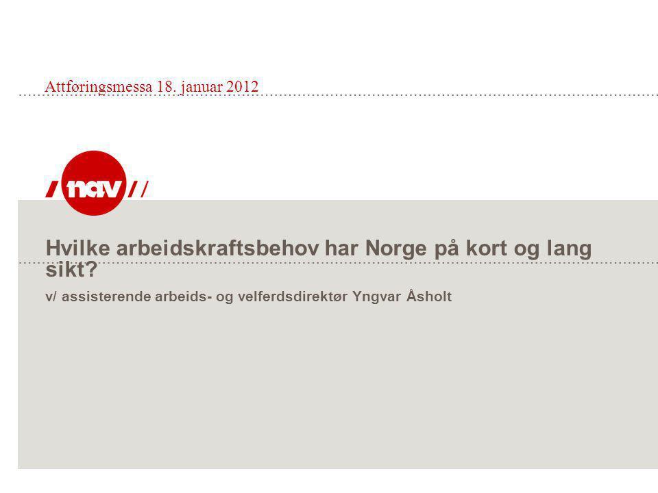 Hvilke arbeidskraftsbehov har Norge på kort og lang sikt.