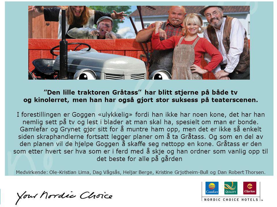 """""""Den lille traktoren Gråtass"""" har blitt stjerne på både tv og kinolerret, men han har også gjort stor suksess på teaterscenen. I forestillingen er Gog"""