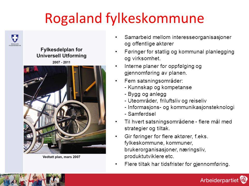Rogaland fylkeskommune •Samarbeid mellom interesseorganisasjoner og offentlige aktører •Føringer for statlig og kommunal planlegging og virksomhet.