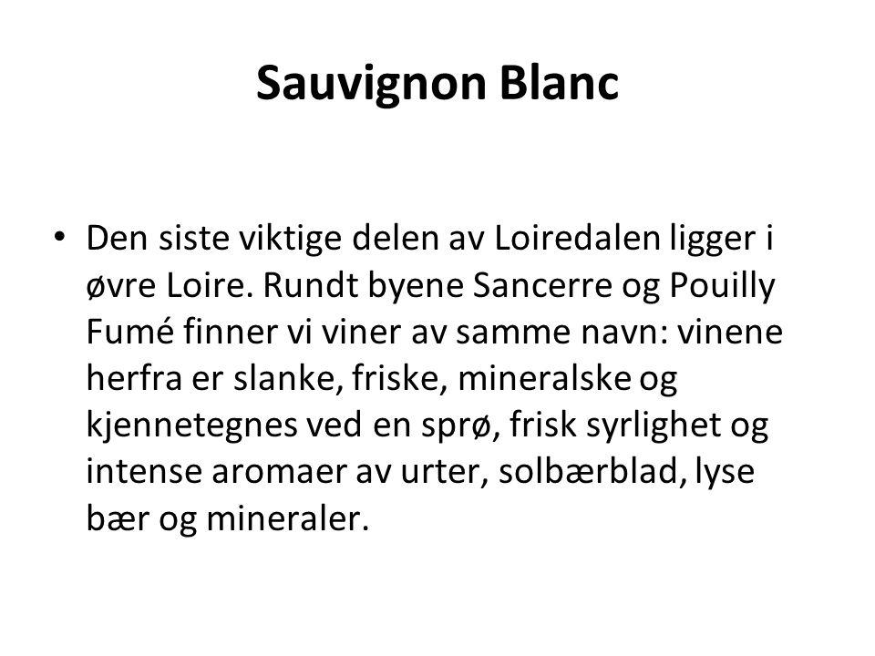 Sauvignon Blanc • Den siste viktige delen av Loiredalen ligger i øvre Loire.