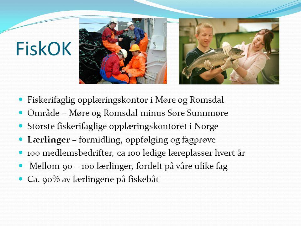 FiskOK  Fiskerifaglig opplæringskontor i Møre og Romsdal  Område – Møre og Romsdal minus Søre Sunnmøre  Største fiskerifaglige opplæringskontoret i