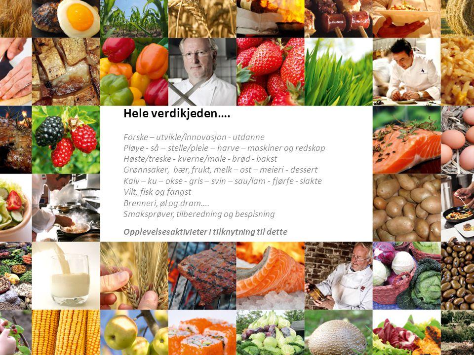 Hele verdikjeden…. Forske – utvikle/innovasjon - utdanne Pløye - så – stelle/pleie – harve – maskiner og redskap Høste/treske - kverne/male - brød - b