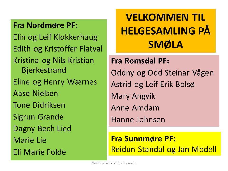 Fra Nordmøre PF: Elin og Leif Klokkerhaug Edith og Kristoffer Flatval Kristina og Nils Kristian Bjerkestrand Eline og Henry Wærnes Aase Nielsen Tone D