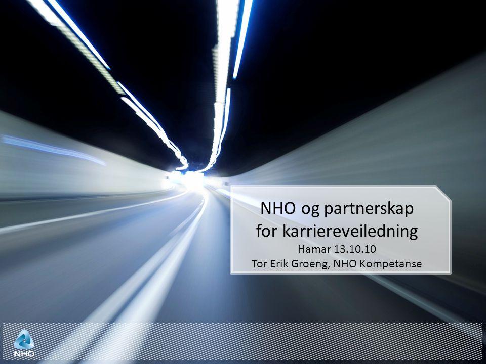 NHO og partnerskap for karriereveiledning Hamar 13.10.10 Tor Erik Groeng, NHO Kompetanse