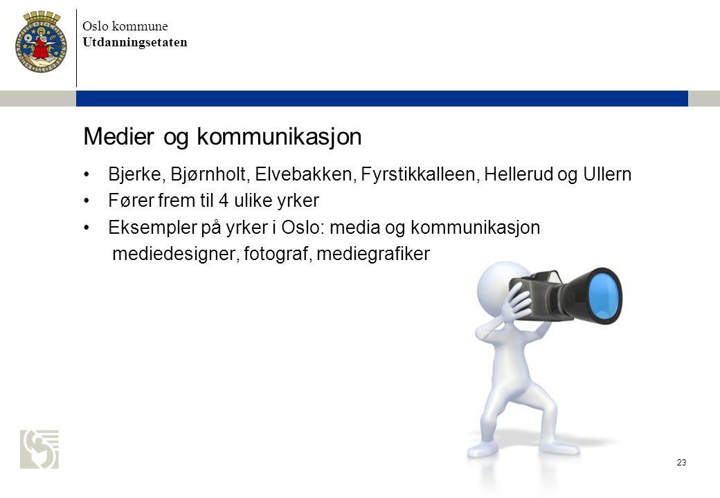 Oslo kommune Utdanningsetaten Naturbruk 24 •Natur videregående skole •Fører frem til 11 ulike yrker •Eksempler på yrker i Oslo: naturbruk, anleggsgartner, hestefaget, skogfaget