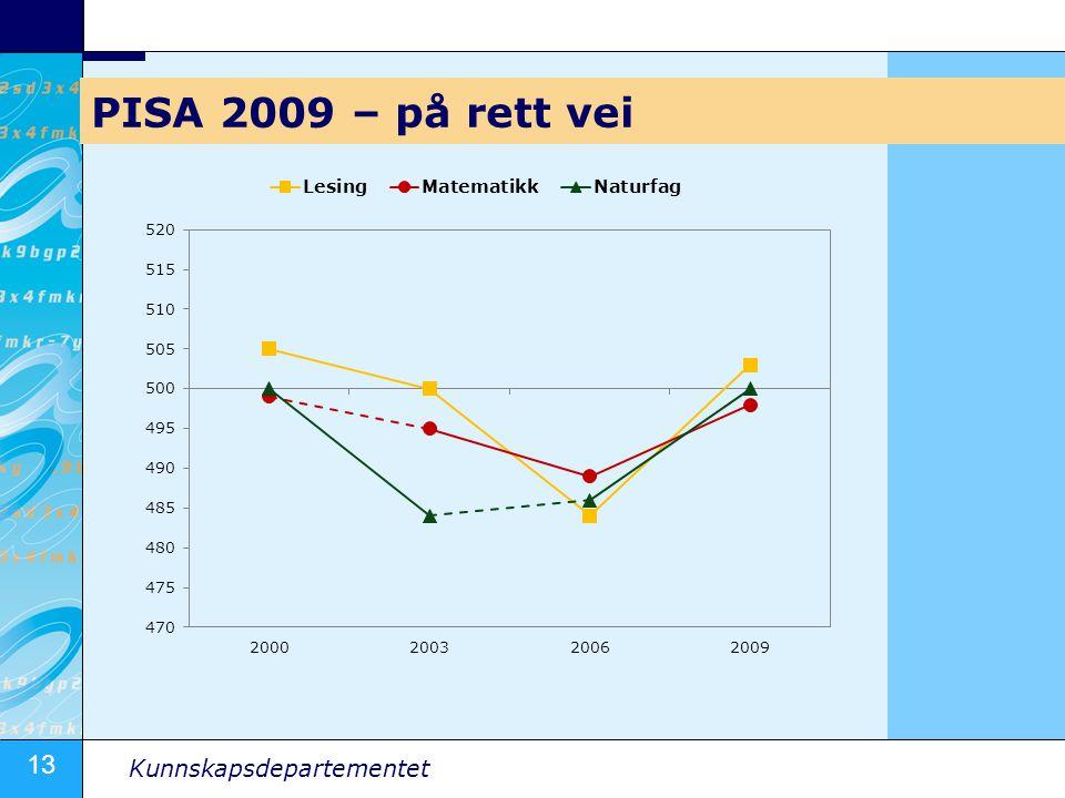 13 Kunnskapsdepartementet PISA 2009 – på rett vei