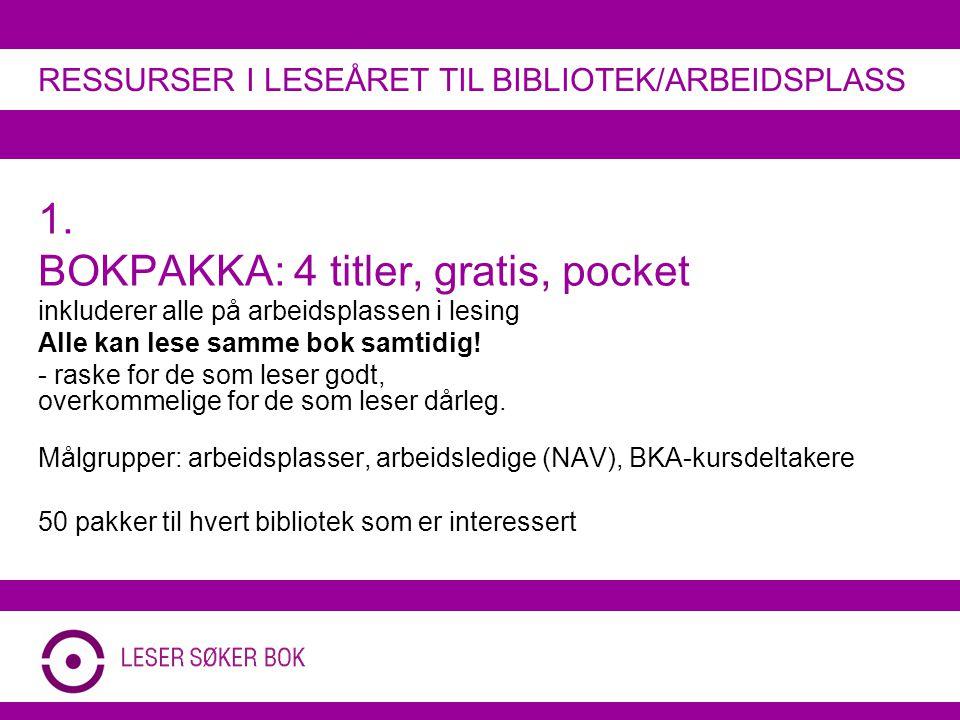 !les (Leseagenter): Støtte til vikar Støtte til tiltak på fritida RESSURSER I LESEÅRET TIL BIBLIOTEK/ARBEIDSPLASS