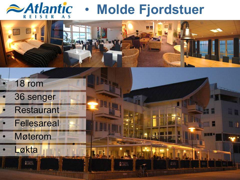 •18 rom •36 senger •Restaurant •Fellesareal •Møterom •Løkta