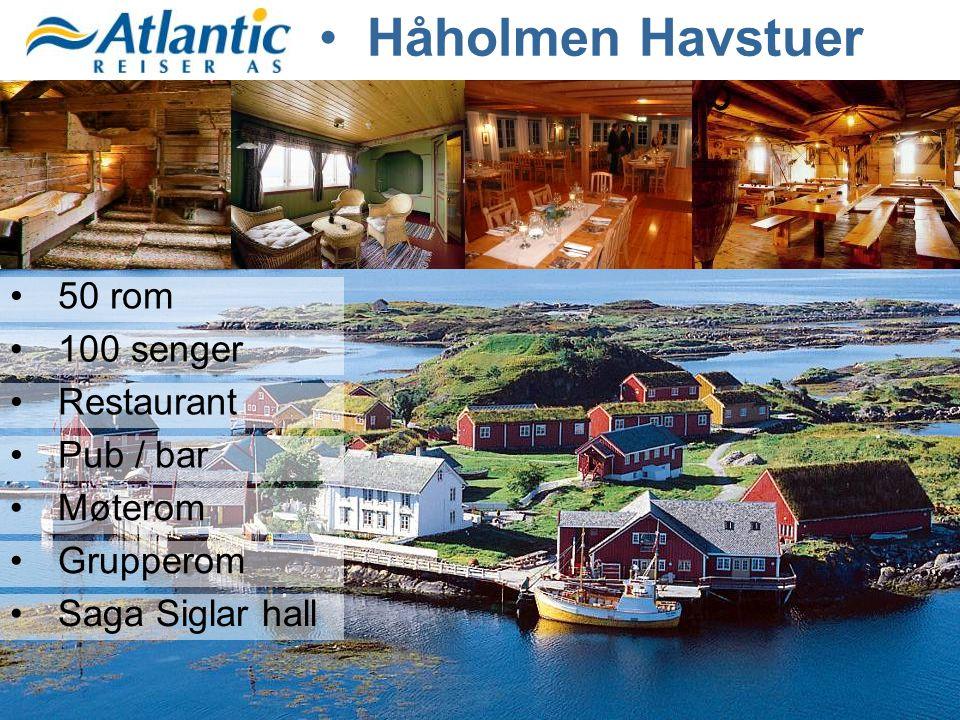 •50 rom •100 senger •Restaurant •Pub / bar •Møterom •Grupperom •Saga Siglar hall