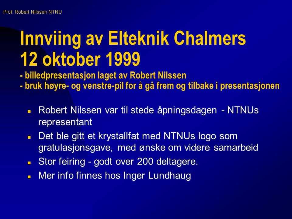 Prof. Robert Nilssen NTNU Forside av utdelt brosjyre